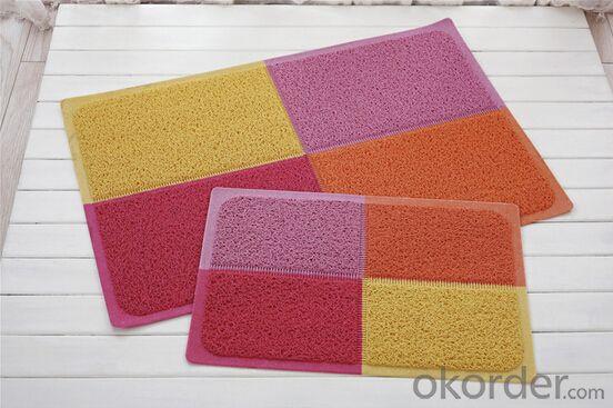 double colors coil design pvc mat