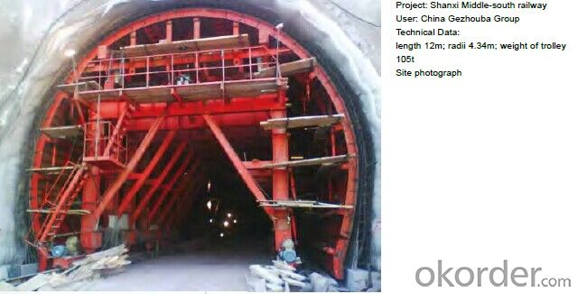 Automatic Hydraulic Tunnel Formwork