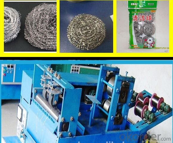 Professional full-automatic single-needle mesh scourer machine with CE from supplier
