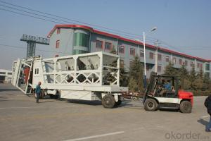 Mobile concrete batching plant machinery