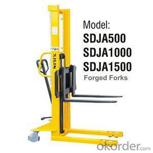 MANUAL STACKER Adjustable Forks Style- SDJA500/1000/1500