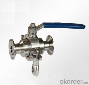 Sanitary stainless steel  high quality and low price manual ball Valve
