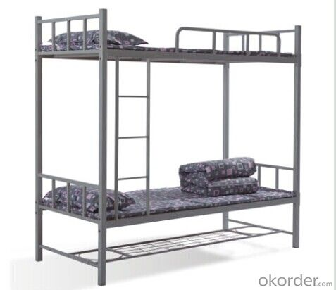Metal Bunk Bed with Storage Shelf