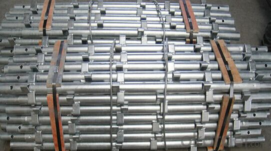 Aluminum scaffold with round legs