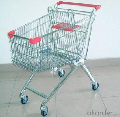 supermarket hand shopping cart