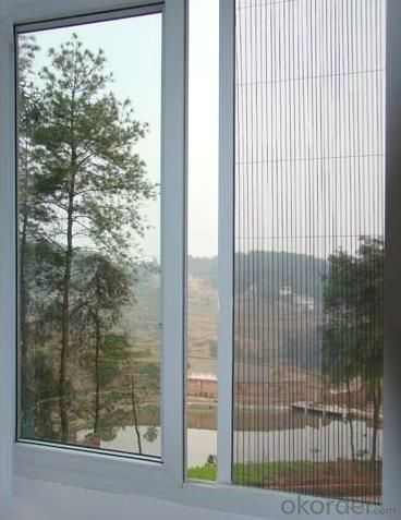 Pleated Fly Screen Window Manufactory from China