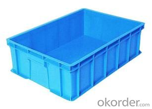 Plastic crates for warehouse storage