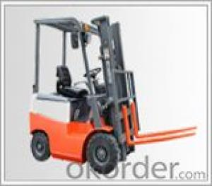 Battery fork lift truck