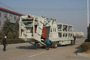 mobile concrete batching plant HZSY25 computerized batching plant