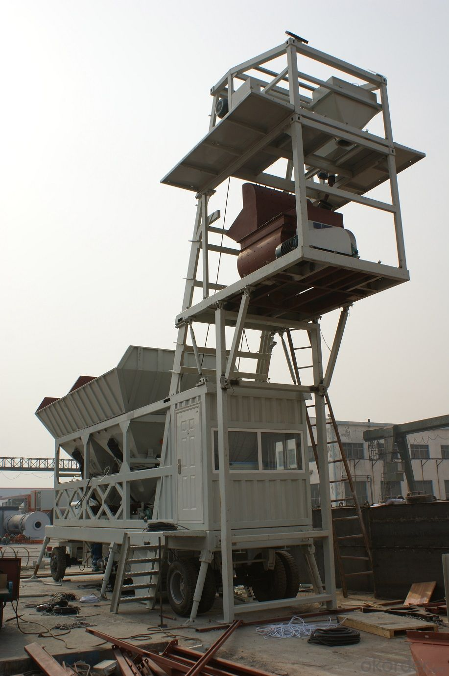 Mobile Concrete Mixing Plant YHZS50 (with capacity of 50m3/h)