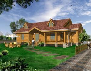 Wooden houses for club and leisure
