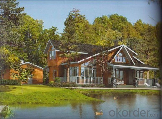 Modern design wooden house