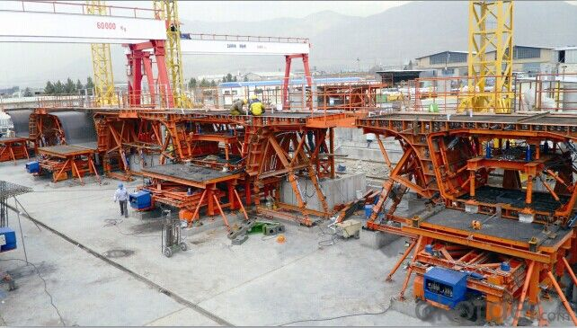 Anti-arch Adjustment Box Girder Formwork