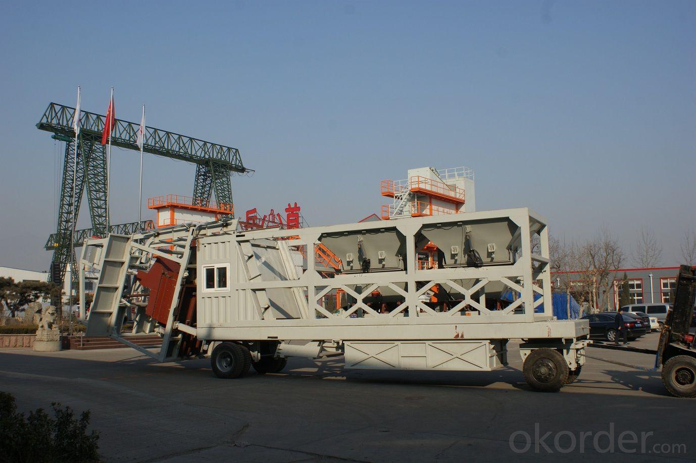 mobile concrete mixing plant,HZSY25,HZSY35,HZSY50,HZSY60