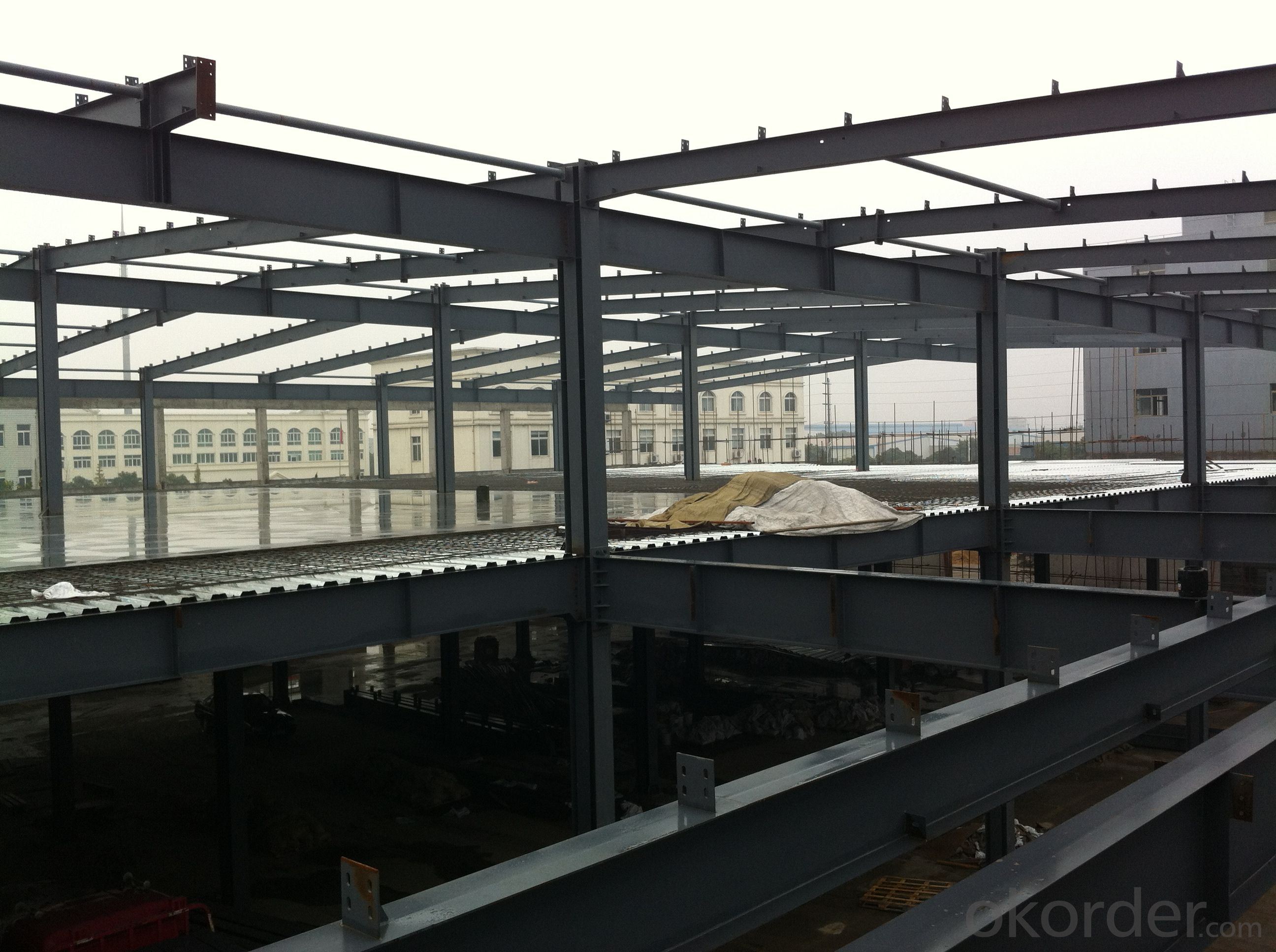 Heavy steel structure for workshop