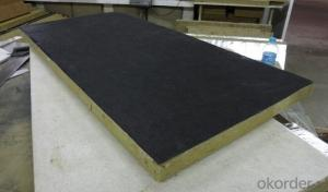Rockwool Board Faced with Black Tissue