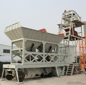 Mobile Concrete Mixing Machine YHZS25 (with capacity of 25m3/h)