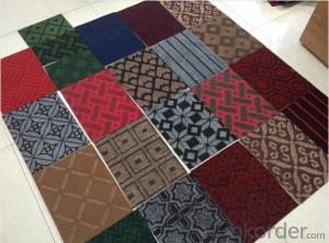 Polyester Flocking style Mat with PVC/Rubber back