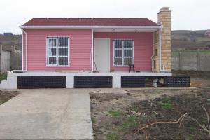 Red Color Prefabricated house