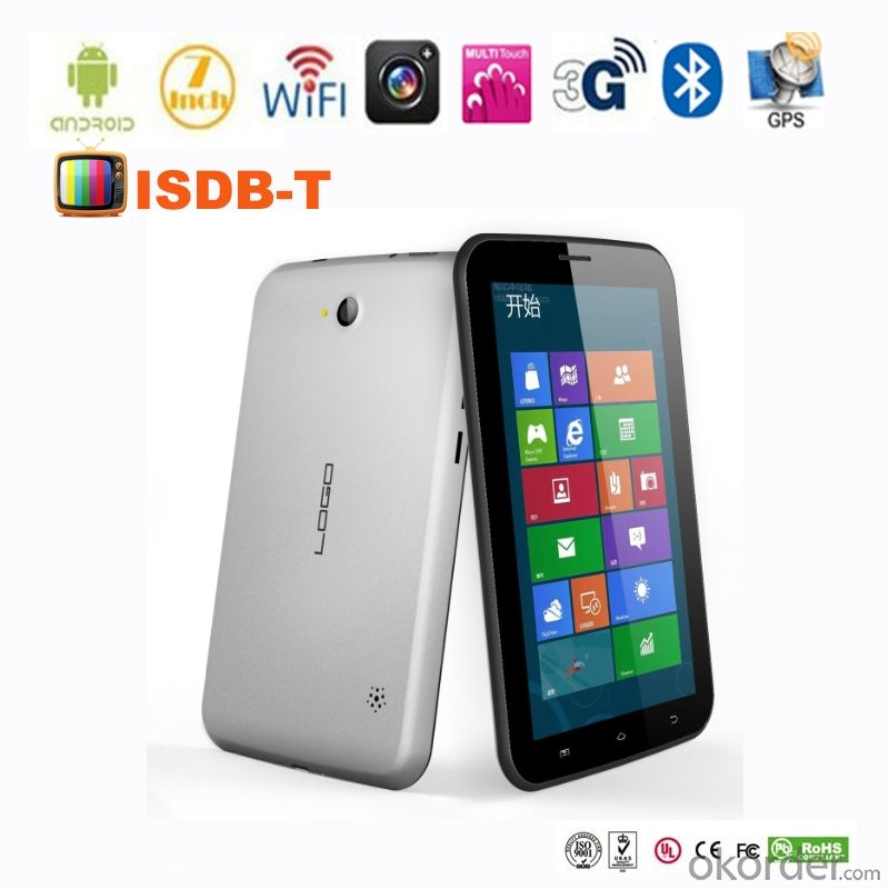 Android GPS Tablet PC 7 inch MTK 8377android 4.1 ISDB-T 2G/3G dual cameras wifi bluetooth fm