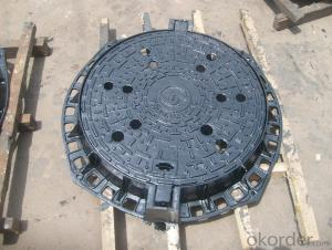 Nodular cast iron round manhole covers