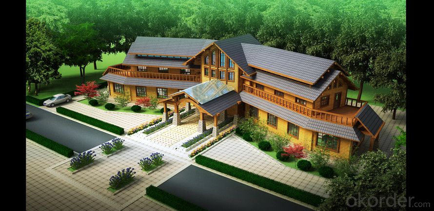 luxury wooden house for resort