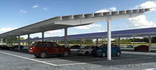 solar  carport system single pile