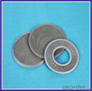 stainless steel mesh filter disc for lubricate system