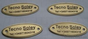 Custom Metal Product Name Plate