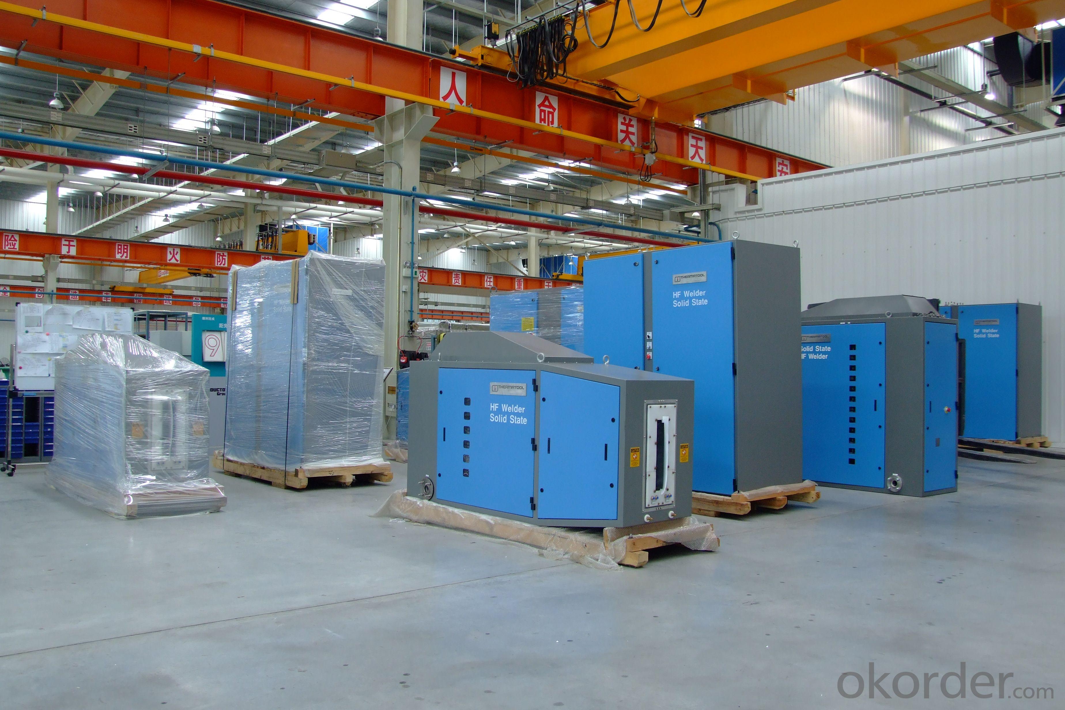 GGP100KW solid state HF steel tube welder