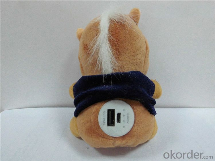 Cute Plush Doll Portable Mobile Power Bank for iPhone