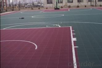 Sports track floor, artificial floor