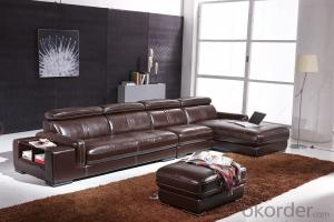 Modern recliner sofa real leather 5seater