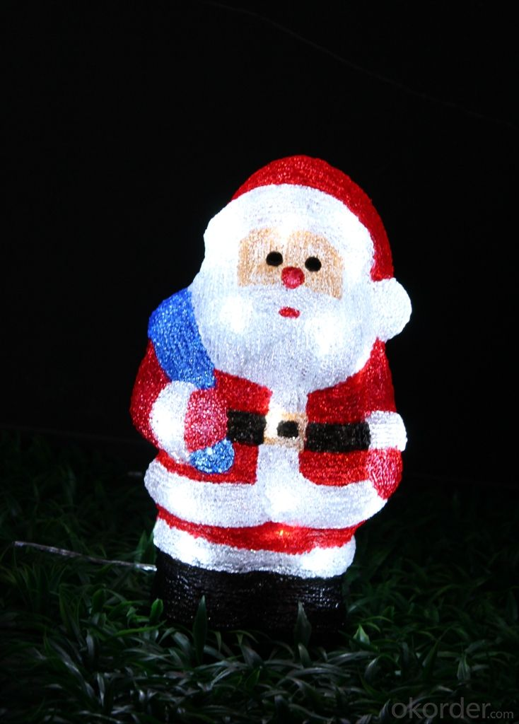 Christmas 3D Motif Light Acrylic Santa