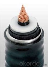 XLPE insulation High Voltage Power Cable rated 110kV
