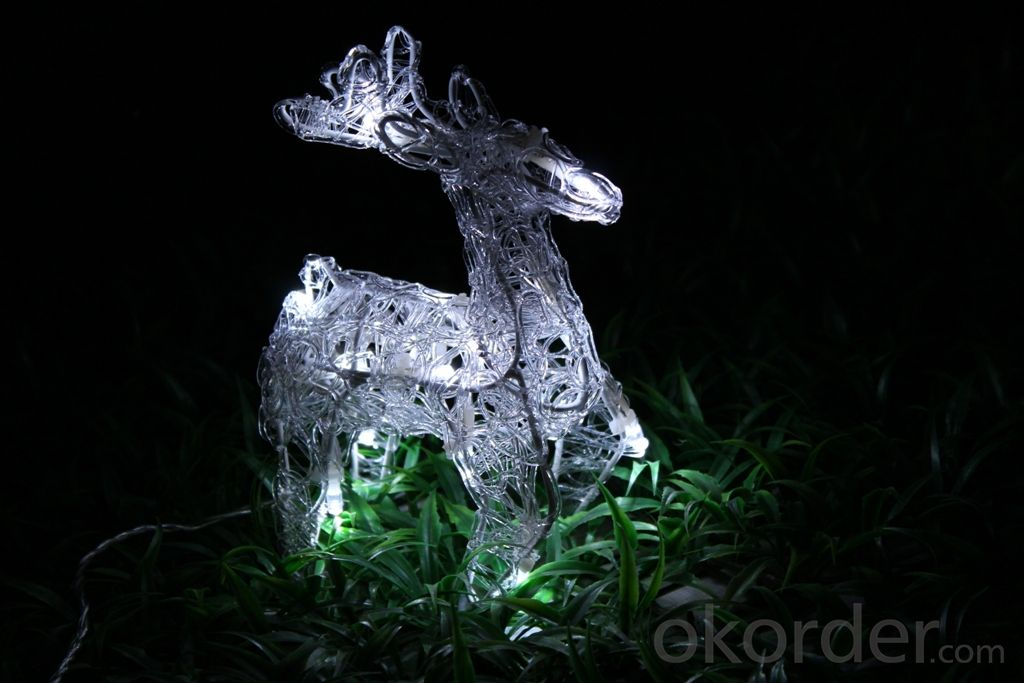 Christmas 3D Motif Light Acrylic Reindeer