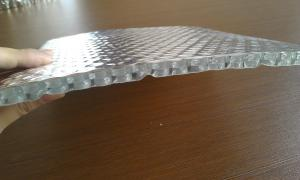 Aluminum foil double bubble thermal insulation material