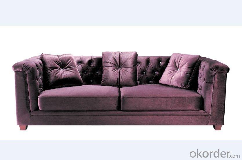 Fabric Chesterfield sofa white color