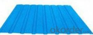 BLUE COLOR CORRUGATED GALVANIZED STEEL SHEET