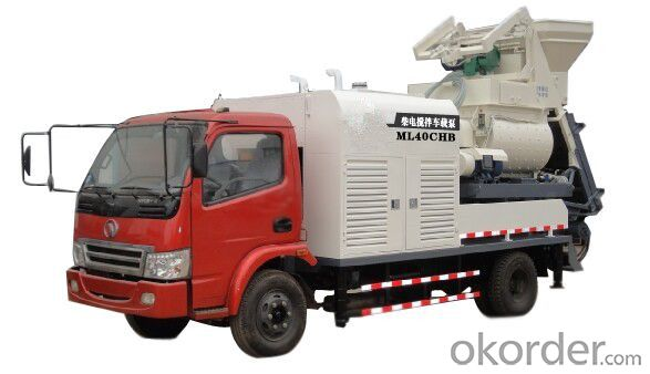 Truck mounted concrete pump series with diesel engine generator