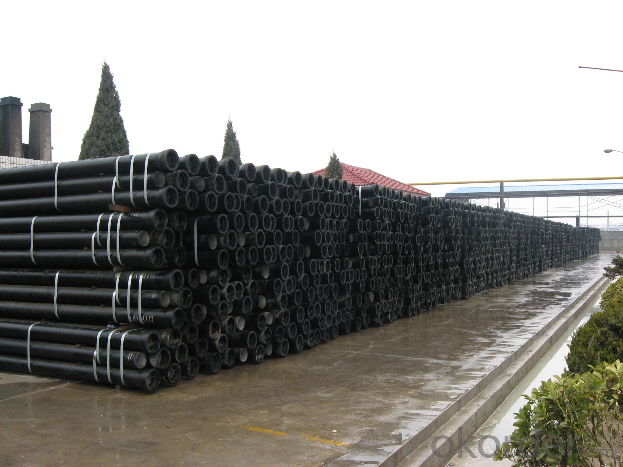 T Type Ductile Iron Pipe DN100 c class SOCKET SPIGOT PIPE