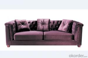 Fabric Chesterfield sofa red color 3 seater