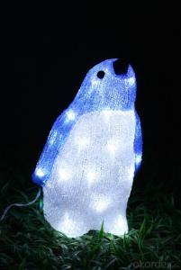 Christmas 3D Motif Light Acrylic Penguin