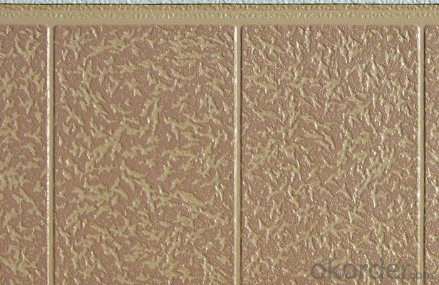 metallic embossed sandwich panel (3800*380*16mm)