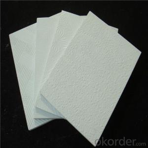 PVC Facing Gypsum Ceiling Tiles with Different Textures