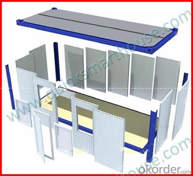 QSH 20ft Folding Container House for Office