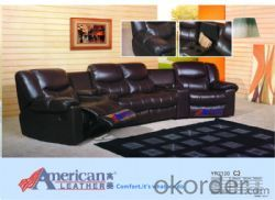Modern recliner sofa Imported leather 6 seater