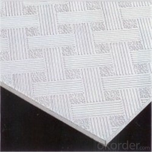 PVC Gypsum Ceiling Tiles 8mm Texture 975