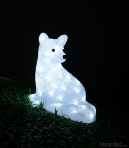 Christmas 3D Motif Light Acrylic Fox