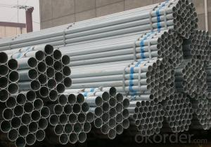 Water gas galvanized welded steel tube